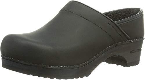 Sanita Julie Closed, Zapatillas de Estar por casa con talón Abierto Mujer, Black 002, 38 EU