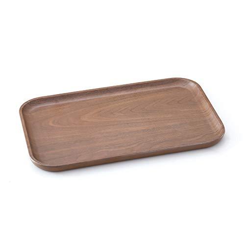 COKAMOZ 1 bandeja rectangular para servir bandeja de almacenamiento antideslizante superior e inferior reutilizable para comer cena.