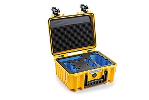 B&W Transportkoffer Outdoor für Drohne DJI Mavic Air 2, DJI Air 2S oder der Fly More Combo Versionen Type 3000 gelb - wasserdicht nach IP67 Zertifizierung