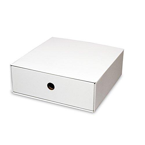 カラーボックス用引出し箱(No.5)【横置き用】【白】 4枚セット (引き出し 収納ボックス 引き出しボックス 整理ボックス 引き出し箱 ダンボール 段ボール)