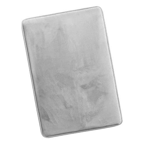 Tappeto Bagno Memory Foam 43x61cm Antiscivolo Facile da Lavare Scendi Doccia Assorbe Velocemente Resistente Soffice Morbido Tappetino Bagno Microfibra (Grigio)