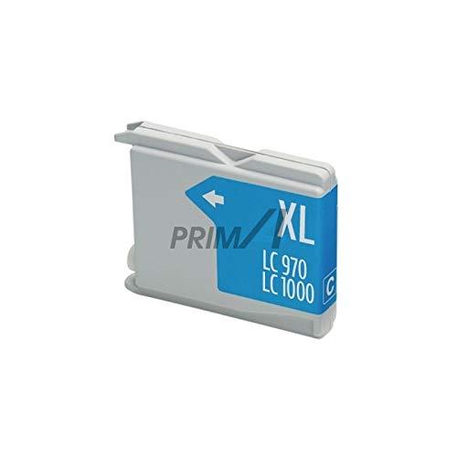 PrimA4 - LC-1000C 28 ml Cian Cartucho de inyección de tinta compatible con impresoras Brother LC51, LC970, LC1000 de alta capacidad