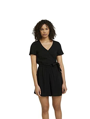 TOM TAILOR Denim 1026000 Summer Mono de Verano, 14482 Deep Black, XL para Mujer