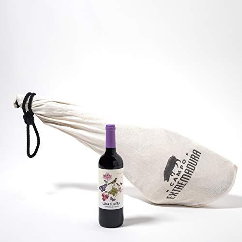 Jamón de cebo de campo ibérico 50% raza ibérica + Vino