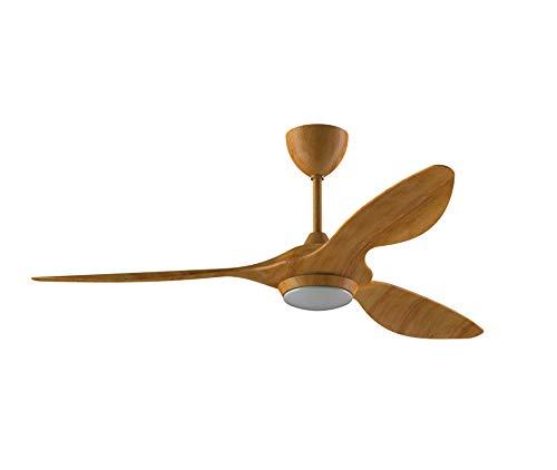 Reiga ventilador de techo de 52 pulgadas con kit de luz LED, mando a distancia, moderno sin ruido, motor reversible, 6 velocidades,...