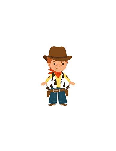 Sticker enfant : cowboy revolvers - Format : 33 x 58 cm