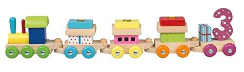 Idena 31089 - Geburtstagszug, Lokomotive mit 4 Waggons, Kerzen 1 bis 6, Kindergeburtstag, Geburtstagskerzen, Dekoration, Tischdekoration, Geburtstagstisch, Kindergarten