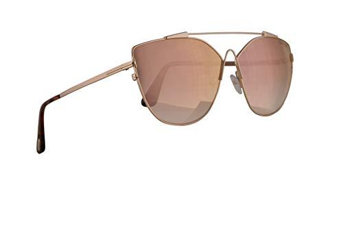 Tom Ford Vrouwen FT0563 Jacquelyn-02 Zonnebril met bruine spiegel Lens 64mm 33G FT563 TF 563 TF563 Goud Groot