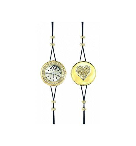 Reloj Marco mavilla Pepito Reversible Corazón Gold Purpurina pht02gd