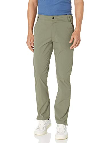 Amazon Essentials Pantalon Tech Slim Fit Hybrid Pants, olivgrün, 36W / 28L