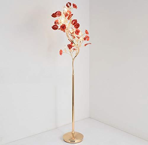 lampadaire Lampadaire, Lampadaire En Céramique, Lampadaire En Cristal, Céramique, Salon (Couleur : Red)