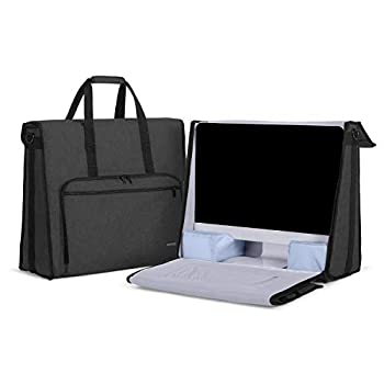Damero Carrying Tote Bag Compatible with Apple 21.5  iMac Desktop Computer Travel Storage Bag for iMac 21.5-inch and Other Accessories Black