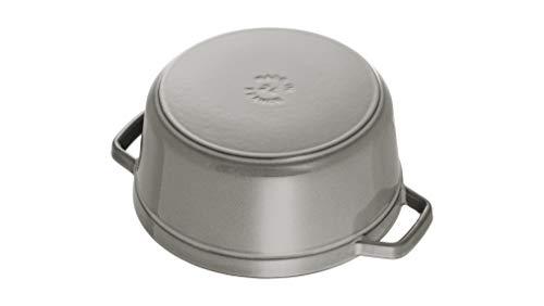 staubストウブ「ピコココットラウンドグレー20cm」両手鋳物ホーロー鍋IH対応【日本正規販売品】LaCocotteRound40509-304