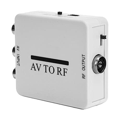 Mini convertidor de Audio y Video, Adaptador de Video RCA/AV/CVSB a RF 67.25MHz / 61.25MHz, convertidor de Audio y Video USB, Plug and Play