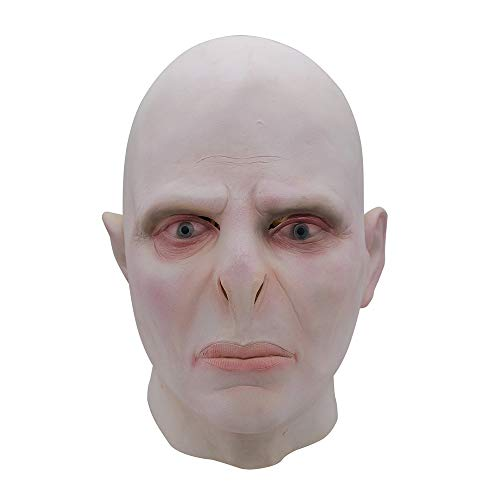 YF-WSJ Halloweenmáscaras Harry Potter Big Boss Voldemort Mask Headgear Halloween Latex Horror Scared Scary Mask Navidad Halloween Cosplay Grimace