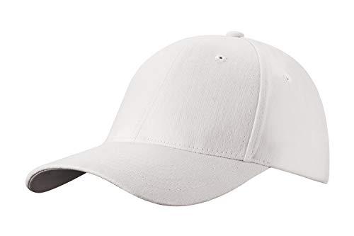 4sold Baseball Cap Unisex Baumwolle Baseball Mützen Reine Farbe Baseboard Baseballkappe (White)