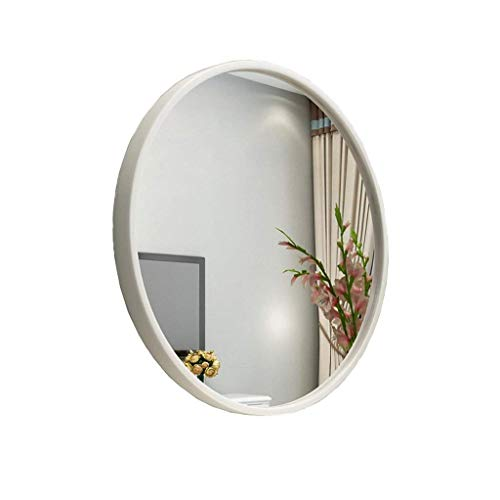 IG Maquillaje Espejo/Pared Colgando Espejo Decorativo/de Pared Espejo/Espejo de Pared Colgando Espejo Redondo/Espejo de Afeitado/de Afeitado Espejo Colgante Decorativo/Blanco,Blanco,40 cm