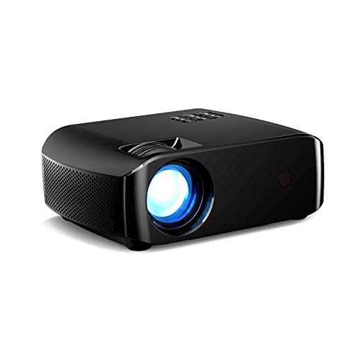 Docooler LED Projector Portable Video Projector Movie Projector for Home Beamer Full HD 1080P Mini Home Cinema Theater Projection Machine Wireless Display Support HD AV USB