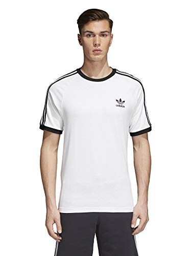 adidas Originals mens 3-Stripes Tee White Medium