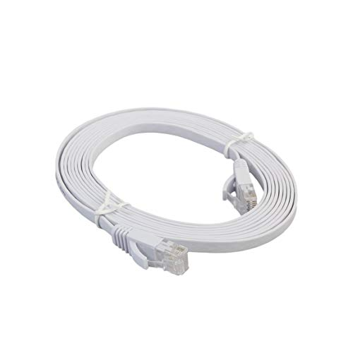 Bellaluee Cable LAN de Red Ethernet Plano CAT6e Cable de conexión de Cable Ethernet para computadora portátil de transmisión de Alta Velocidad para Oficina en casa
