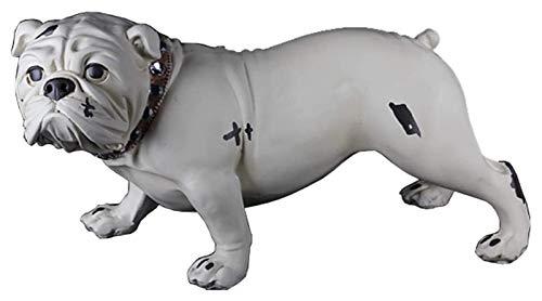 Desktop-Skulptur Hund Statue Englische Bulldogge Skulptur Haustier Modell Simulation Tierharz Handwerk Kunstdekoration Figuren Desktop Dekoration 38 * 18 * 20...