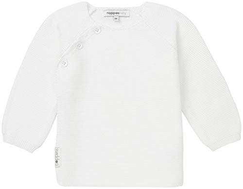 Noppies U Cardigan Knit LS Pino Chaqueta Punto, Blanco (White C001), 74 para Bebés