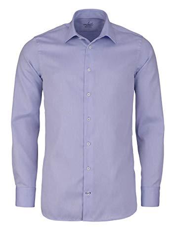 van Laack Slim Fit Hemd RET extra Langer Arm New Kent Kragen hellblau Größe 43