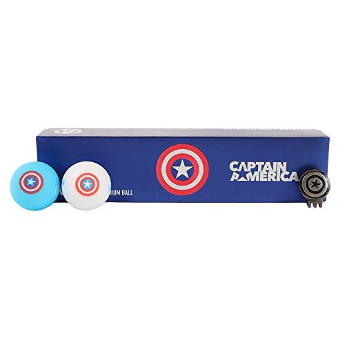 ボルビック(ボルビック) MARVEL キャプテンアメリカ W 4個入りセット (ホワイト×ブルー/FF/Men's、Lady's)