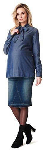Noppies Damen Jeans Skirt OTB Joy medium Aged Umstandsrock, Blau (Blue Denim C306), 34 (Herstellergröße: 27)