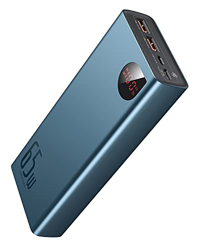 #9 Baseus 20000mAh - QC3.0 + USB-C PD 65W 🔁⚡💻