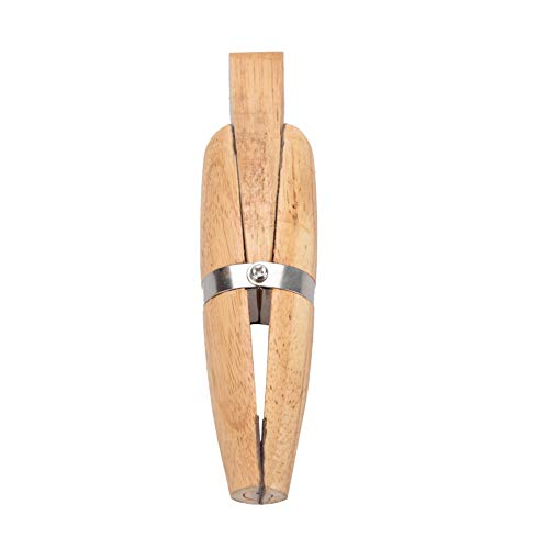 bizofft Holzklemmhalter, leicht zu lösen Holz + Metall Holzschmuck Klemmwerkzeug, Für Schmuckherstellung Feilen Polieren Polieren Stein Einstellring