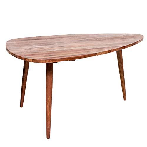 Table Basse en Bois Massif en Forme De Table Basse Antidérapante Canapé Stable Table D'appoint Simple Table Basse Table Salon Canapé Table D'appoint (Color : Natural, Size : 66 * 45 * 43cm)