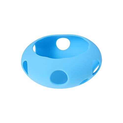 Capa protetora de silicone moderna, macia, antipoeira, antiarranhões, compatível com Google Home Mini (azul)