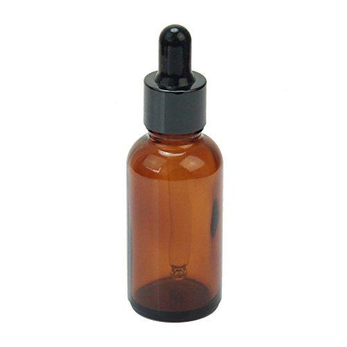 U-K Botella de Perfume de Aceite de Esencia de ámbar vacío de 30 ml Envase cosmético + cuentagotas de Vidrio Útil y práctico Practical and Attractive