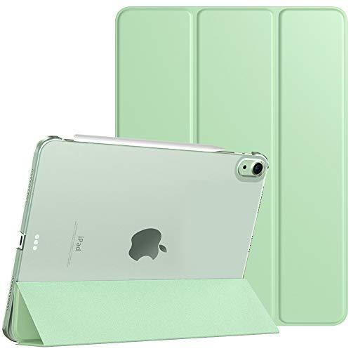 TiMOVO Funda Compatible con Nuevo iPad 10.9 Inch, iPad Air 4.ª Generación 2020, Tableta Cubierta Inteligente Trasera con Despertar Dormir Auto, Protectora Plegable - Verde