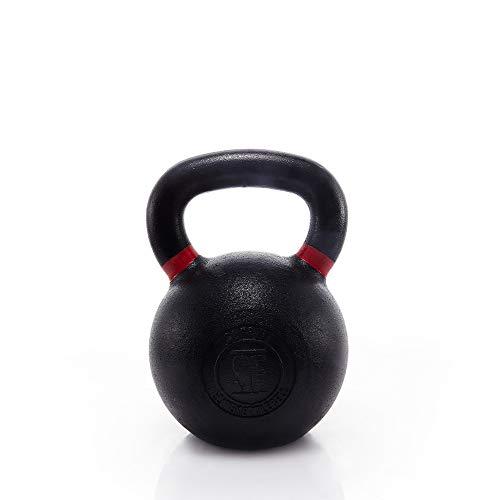 Suprfit Elite Kettlebell - Kugelhantel aus Gusseisen fürs Krafttraining und Cross Training, Gewicht: 32 kg, Schwunghantel geeigent zum Reißen, Stoßen und Drücken, pulverbeschichtet