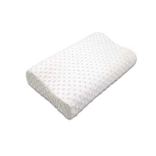 Vafany Memory Foam Contour Pillow, Neck Support Cervical Bed Pillow for Sleeping, Side Sleeper - Relieve Neck Pain with Washable Zippered Soft Cover
