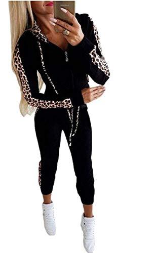 Shujin Zweiteiler Damen Jogginganzug Streifen Trainingsanzug aus Bauchfrei Kapuzenpullover mit Jogginghose Sportswear 2 Stück Set Frauen Bekleidungsset Yoga Fitness Outfit