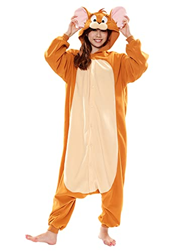 SAZAC Tom and Jerry - Jerry Kigurumi Halloween Costume Adult Onesie