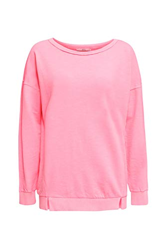edc by ESPRIT Damen 030CC1J302 Sweatshirt, 670/PINK, M