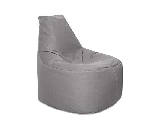 Lacasa Sitzsack XL-XXL Outdoor Indoor- Wasserdicht Wetterfest-Bodenkissen Sitzkissen Beanbag- Erwachsene Kinder- Gaming Sessel- EPS StyroporFüllung- Hochwertiges Oxford 600D (XXL - 80 cm Ø, Anthrazit)