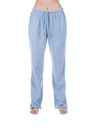 Selena Secrets Ladies Cathy Polar Fleece Lounge Pants LN814 Blue Spot 12-14