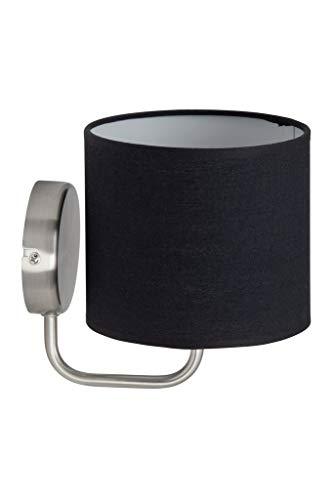 Brilliant 85010/76 Applique, Metal/Textile, Acier/Noir