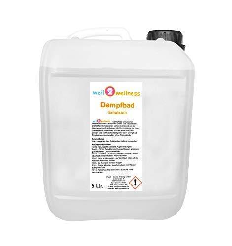 well2wellness® Dampfbademulsion/Dampfbad Duft 5,0 l Kanister - über 160 Düfte zur freien Wahl