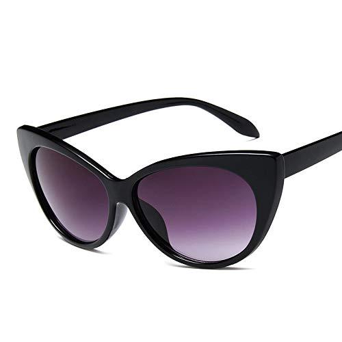 ShSnnwrl Gafas De Moda Gafas De Sol Gafas De Sol De Ojo De Gato para Mujer, Montura Negra, Gafas De Sol para Mujer, Gafas De Sol Sexis Vintage para Mujer