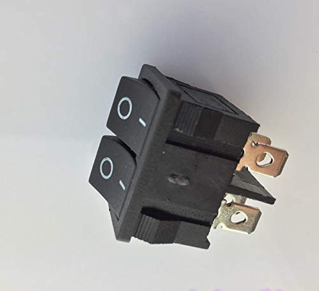 アノイ建設すごい6足の黒いプラスチック材料のためのDIYモデルおよび回路メイクで1個J103Yダブルロッカースイッチ (色 : ブラック)