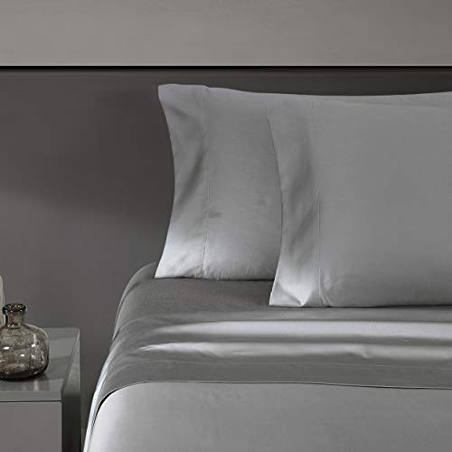 Vera Wang | 800 Collection | Bed Sheet Set - 800 Thread Count, Silky Smooth & Wrinkle-Resistant Bedding, King, Grey