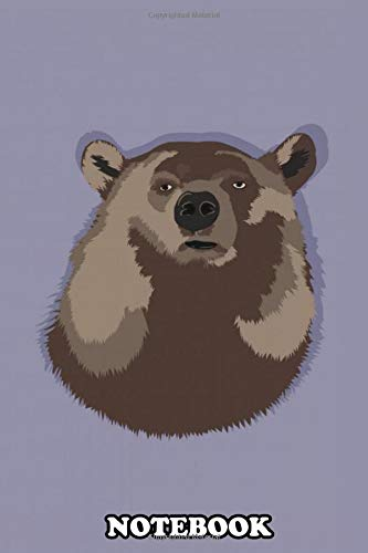 Notebook: The Beauty Of The Bear With The Light Falling On Its Fu , Journal for Writing, College Ruled Size 6' x 9', 110 Pages