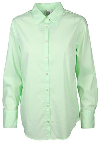 Emily van den Bergh Damen Bluse mit zarten Streifen Größe 40 EU Grün (grün)