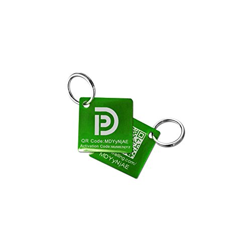 PetDwelling Lightweight Emerald/Jade QR Code Pet ID Tag Links to Online Profile/Emergency Contact/Medical Info/Google Map Location Stamp (Epoxy Coated)